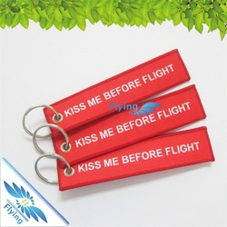 Remove Before Flight Embroidered Key Ring/Key Fobs
