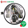 4X4 motorcycle spare parts 7 inch high low beam headlight, round led light for motorcycle