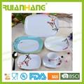 Antigüedad del estilo de vajillas de cerámica, Lujo fine china conjunto cuadrado