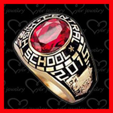 Custom made class ring replica, china jewelry maker class rings