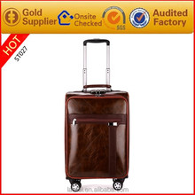Wholesale Brown Leather Travel Bag Business Man Big Bags