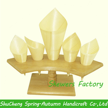 Bamboo Ice cream cone holder Cake stand to hold the champagne Flowers cone holder