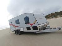 HOT!!!2015 customized sandwich board caravan/travel trailer