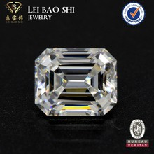 AAA grade very light yellow CZ emerald step cut faceted gem stone