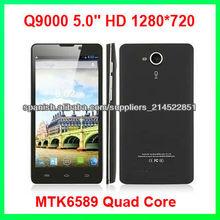 Q9000 5.0'' hd 1280*720 1.2 ghz pantalla 1gb+4gb android4.1 3g con gps mtk6589 núcleo cuádruple teléfono móvil