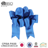 Top quality 300 yards blue 100% polyester satin ribbons wholesale