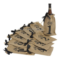 High quality wine bottle bag pattern cheap wine bags jute beer bottle bag