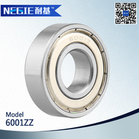 China supplier Cixi Negie factory made high speed precision motorcycle engine bearing 6001