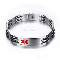 Stainless Steel 316L Medical Alert Bracelet for Men and Women China Jewelry