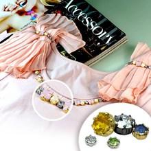 Fashion design 10mm acryl diamond button for coat ornaments