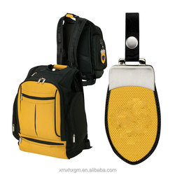 Made in China supplier yellow and black fashion waterproof nylon backpack