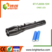 China Factory Best Aluminium alloy Long Distance Rechargeable Tactical zoom flashlight 18650