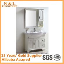 2012 Newest Italian style 304 stainless steel marble top bathroom cabinet