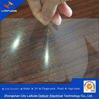 3 layers pet high transparent golden silver diamond film flash colorful screen guard protector
