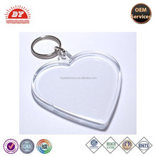 Blank Acrylic heart shape Keychains Wholesale
