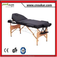 China luxurious design adjustable wood massage table