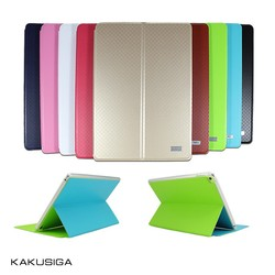 KAKU professional double color leather smart case for ipad 2 3 4 5/air/mini/mini 2 from tablet manufacture