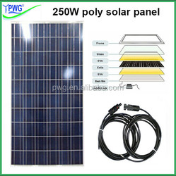 250W poly solar panel for 500 watt solar panel system wholesale price