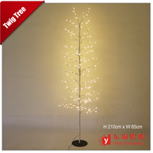 Most popular led xmas tree lights/led outdoor christmas tree /led twig tree