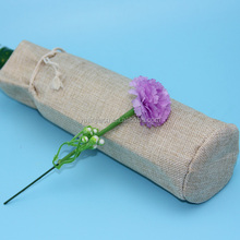 Eco packing bags cheap hemp wine pouch