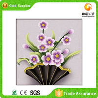 China Wholesale Hand Work Flowers Modern Crystal Painting On Canvas