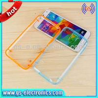 Crystal Clear Bumper Case for Samsung Galaxy S5 i9600 light up cell phone cases