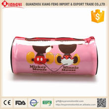 Kids Favorite Cute Mouse Chaep Plastic PVC Pencil Case With Zipper
