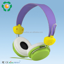 colorful custom logo printed wired headphones without mic