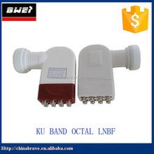 best digital hd high gain ku band lnbf with eight output dual polarization lnb