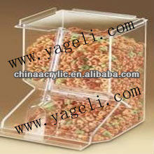 acrylic popcorn container for storage candy,sweet,chocolate,coffee bean,jelly bean,etc