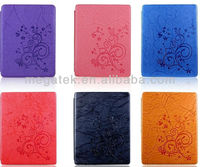 tablet case Flower Embossed smart leather case for ipad mini 2 3 4, for ipad case mini air 2 3 4