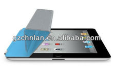 Factory price 3 fold pu leather cover for ipad 2 case