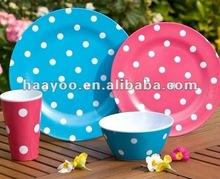 16pcs Melamine dinner set;Spot Point Design Melamine dinnerware