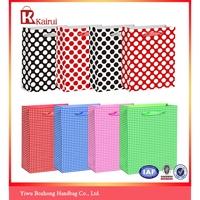 Plain dot grid design gift printing shopping gift paper bag