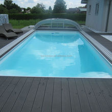 WPC outside swimming pool raised decking floor, extruded wood plastic composite