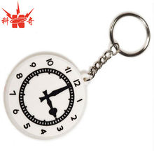 Custom Clock Shaped Rubber Keychain For your Promotional Clock Rubber keychain