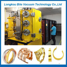 rings/earrings/pendants jewelry gold plating machine/gold chains ion sputtering machine