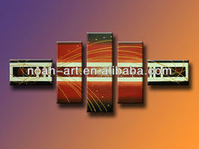 2015 group 5pcs abstract painting by handmade