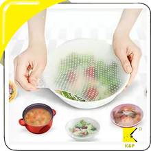 Silicone Wraps Seal Cover Stretch Cling Film Keep Food Fresh