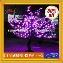 2014-alta simulación cereza llevó árbol iluminado con el CE ROHS BS Unido SAA CCC