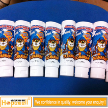 High glossy Cosmetic children toothpaste tube aluminum Laminated Tube packaging, new ABL tube with acrylic tube caps