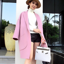 Womens Pocket Long Casual Winter Wool Blends Lapel Trench Coat OvercoatOEM ODM Type Clothes Factory Manufacturer Guangzhou