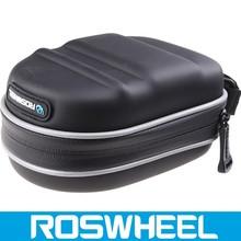 Wholesale logo customized waterproof leather bicycle saddle bag 13875-3 electric bike battery bag