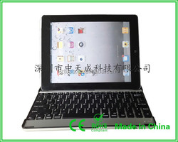 Aluminum bluetooth wireless keyboard for tablet support Ipad air2