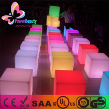 2015 new products outdoor lighting furniture cheap led outdoor furniture cube seat