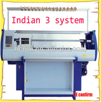 2015 indian 3 system sweater knitting machine price