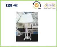 hospital bed side height adjust gas spring lift up and down table