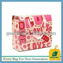custom art colour kraft paper bags with ribbon handle