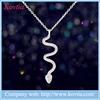 S925 pure silver jewelry zircon micro snake pendant necklace sex woman accessories