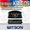 WITSON STEERING WHEEL CONTROL DVD FOR RENAULT KOLEOS 2014 WITH 1.6GHZ FREQUENCY DVR SUPPORT WIFI 3G BLUETOOTH GPS